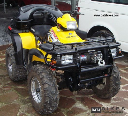 2004 Polaris  Sportsman 700 Twin 4x4 winch AHK case Rammbüge Motorcycle Quad photo