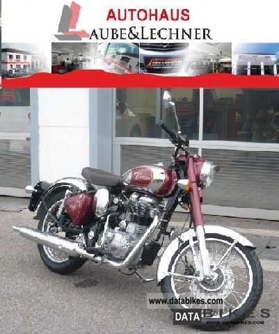 2011 Royal Enfield  Bullet 500 Classic Chrome EFI red Motorcycle Motorcycle photo