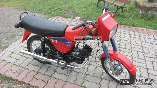 1992 Simson  S53 Motorcycle Motor-assisted Bicycle/Small Moped photo