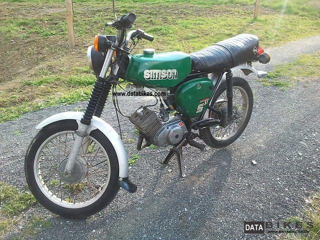 1984 Simson  S51 Motorcycle Lightweight Motorcycle/Motorbike photo
