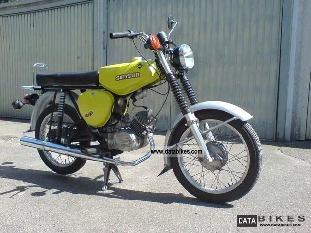 1977 Simson  S 50 B2 Motorcycle Lightweight Motorcycle/Motorbike photo