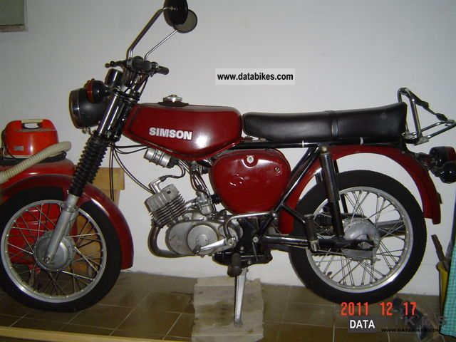 Simson  S 51 B 1 1979 Vintage, Classic and Old Bikes photo