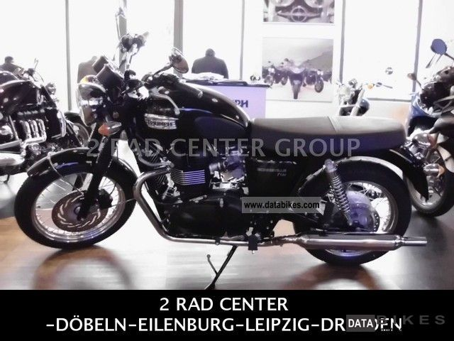 2011 Triumph  Bonneville T100 Black / DRESDEN Motorcycle Motorcycle photo