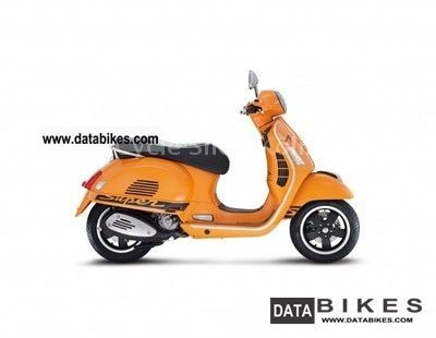 2012 Vespa  GTS 300 sport orange ie.Super Motorcycle Scooter photo