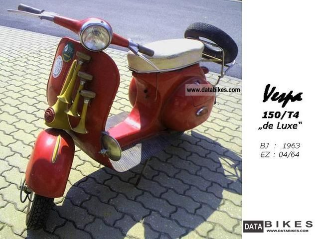 Vespa  150/T4 de Luxe 1964 Vintage, Classic and Old Bikes photo