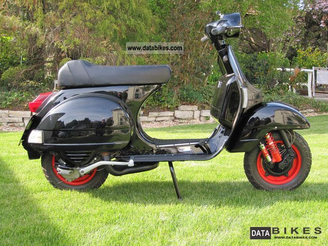 1980 vespa oldtimer p200e vsx 1t in original black. Black Bedroom Furniture Sets. Home Design Ideas