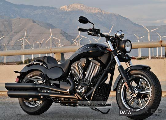 2011 VICTORY  Judge Solid Black Motorcycle Chopper/Cruiser photo