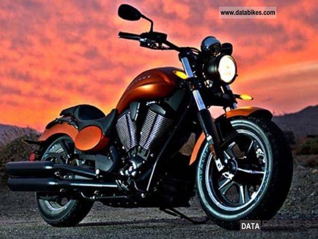 2011 VICTORY  Judge Matt Nuclear Sunset Orange Motorcycle Chopper/Cruiser photo