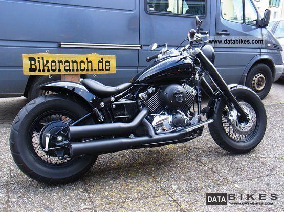 2003 Yamaha  XVS 1100 FAT-BLACK-SUPER ROAD KILL BOBBER TOP! Motorcycle Chopper/Cruiser photo