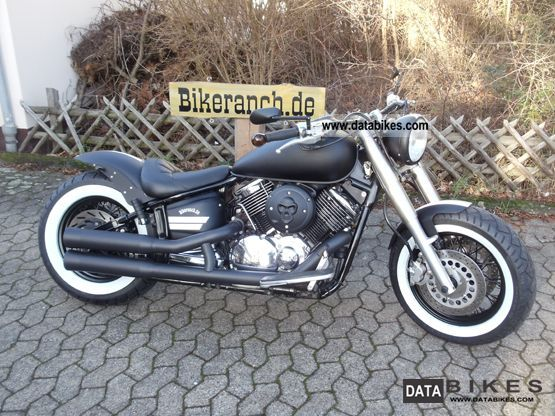 2003 Yamaha  XVS 1100 FAT BOBBER TAG Black & White Motorcycle Chopper/Cruiser photo