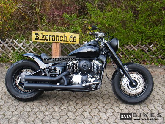 1998 Yamaha  XVS 650 FAT-SUPERB LACK BOBBER TAG + new state Motorcycle Chopper/Cruiser photo