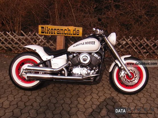 2003 Yamaha  XVS 650 FAT BobberTRAUM TAG Ferrari Pearl White Motorcycle Chopper/Cruiser photo
