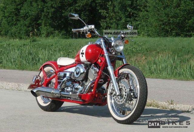 1997 Yamaha  custom bobber Red Baron Motorcycle Chopper/Cruiser photo