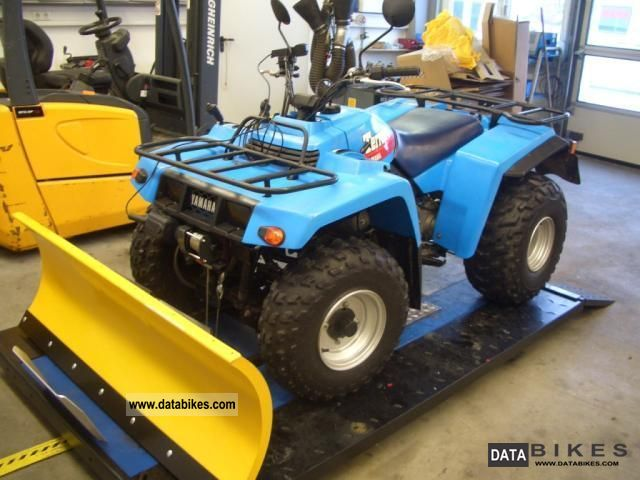 1990 Yamaha  YFM350 Terrapro with snow plow Motorcycle Quad photo