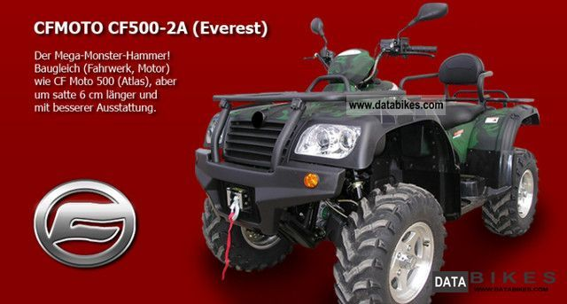 2011 Other  CF 500 - 2A 4x4 long Motorcycle Quad photo