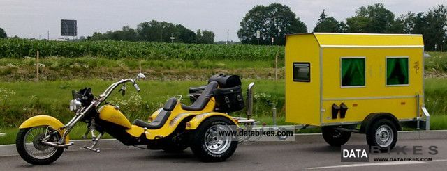 2000 Boom  Chopper with caravans and trailers Motorcycle Trike photo