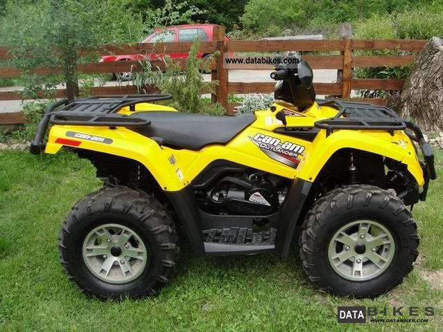 2008 Can Am  BOMBARDIER OUTLANDER 400 XT Motorcycle Quad photo