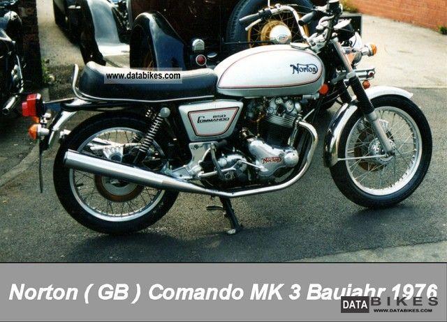 Norton  Commando MK 3 1976 Vintage, Classic and Old Bikes photo