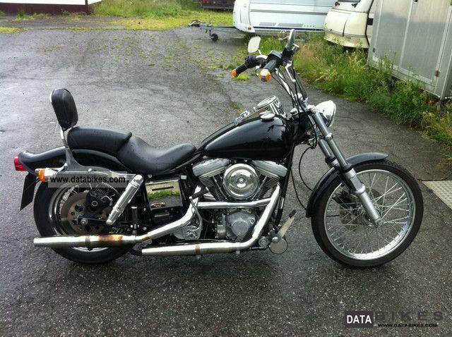 1986 Harley Davidson  Wide Glide Motorcycle Chopper/Cruiser photo