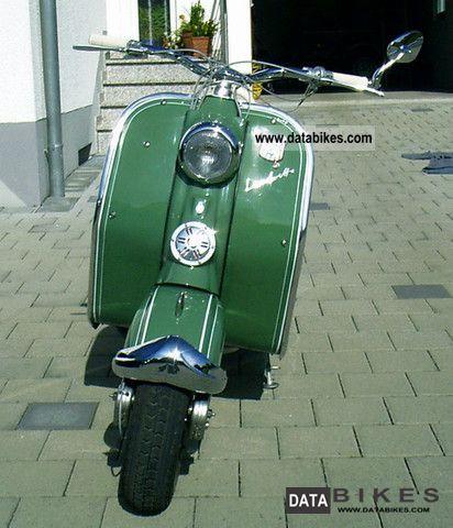 1955 NSU  Lambretta Motorcycle Scooter photo