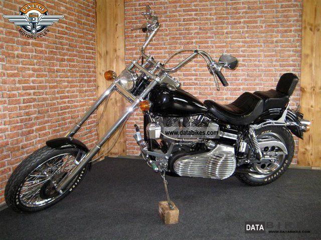 1983 Harley Davidson  FXSB Shovel Low Rider Motorcycle Chopper/Cruiser photo