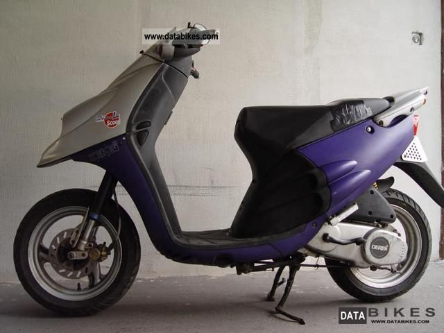 1997 Derbi  Paddock 50 silver / blue Motorcycle Scooter photo