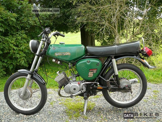 Simson  S51 1979 Vintage, Classic and Old Bikes photo