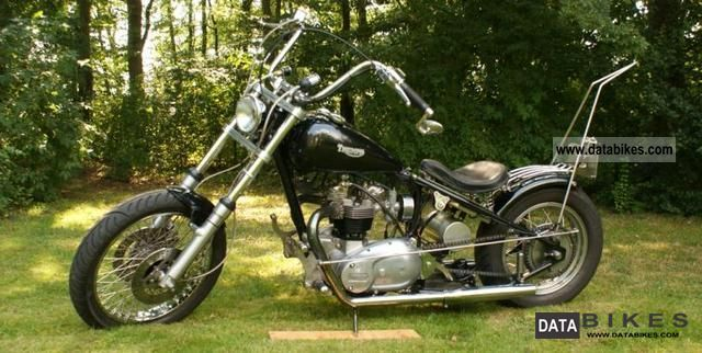 Triumph  6T chopper 1952 Vintage, Classic and Old Bikes photo