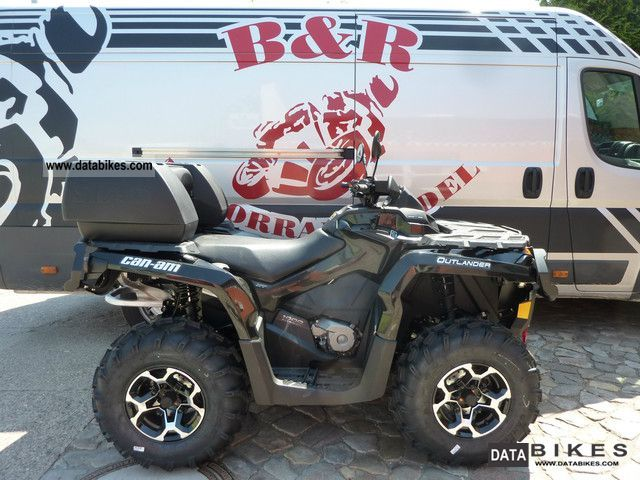 2012 Can Am  1000 Outlander XT winch EPS - LOF - Luggage Motorcycle Quad photo