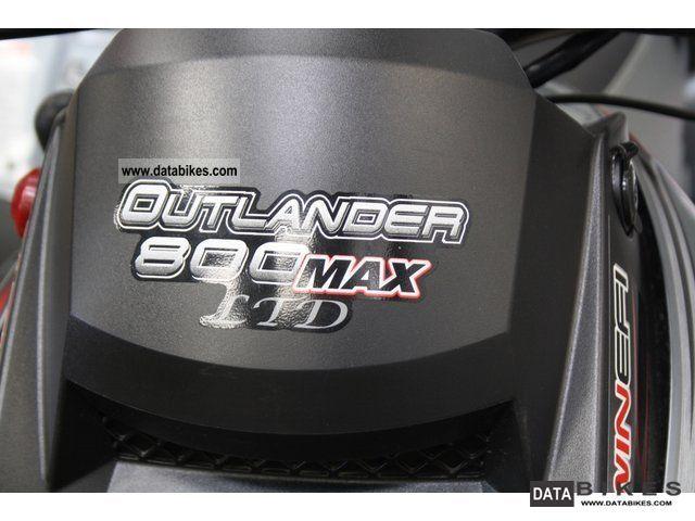 2009 Bombardier Outlander 800 Max LTD Edition AHK Navi winch
