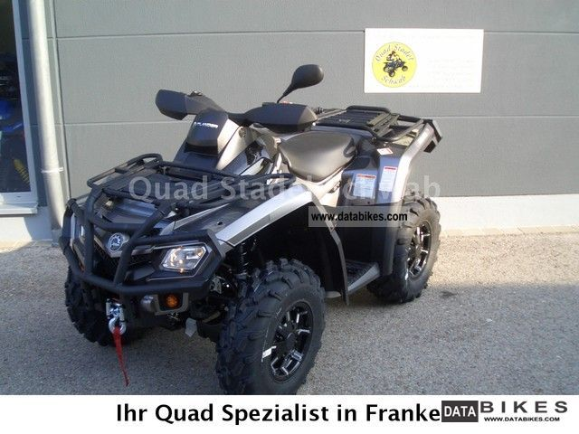 2012 Can Am  Outlander 650 XT Motorcycle Quad photo
