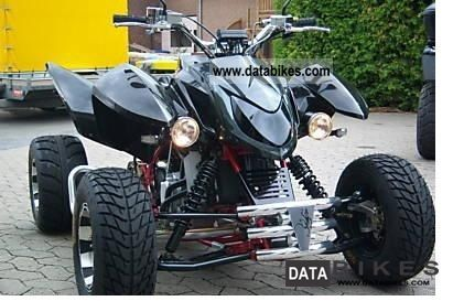 2007 Triton  400 CCR headlights, Supermoto 15kW TUV Motorcycle Quad photo