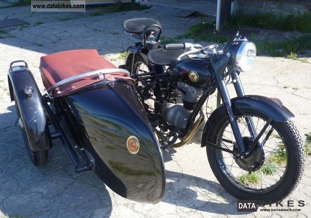 Simson  AWO T 425 with sidecar Stoye 1951 Vintage, Classic and Old Bikes photo