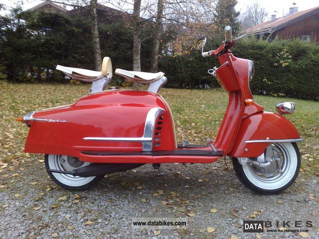 1958 NSU  Prima V Motorcycle Scooter photo