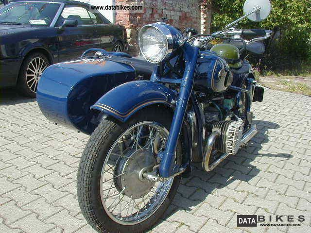 Ural  Dnepr K750 bzwK750M-vintage trailer 1961 Vintage, Classic and Old Bikes photo