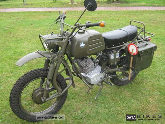 1979 Herkules  V1 K125 BW army dispatch rider Motorcycle Enduro/Touring Enduro photo