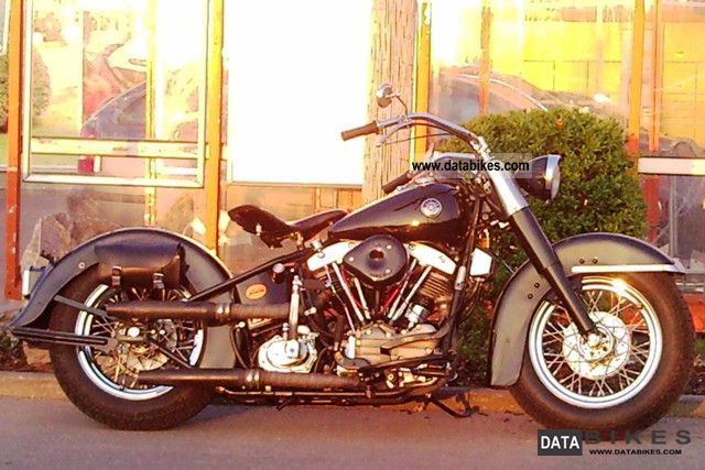Harley Davidson FL1200 Hydra Glide Year 57 S Tank Circuit 1957 Motorcycle Photo