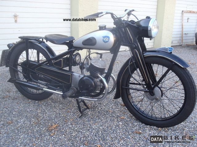 NSU  ZDB 125 1950 Vintage, Classic and Old Bikes photo