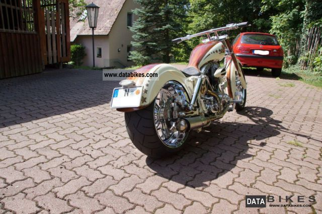 1958 Harley Davidson  Custom, Knickerrahmen Year 1958 Motorcycle Chopper/Cruiser photo