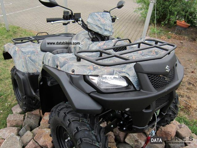 Suzuki  KingQuad 500AXi, including camouflage WARN winch 15 2012 Quad photo