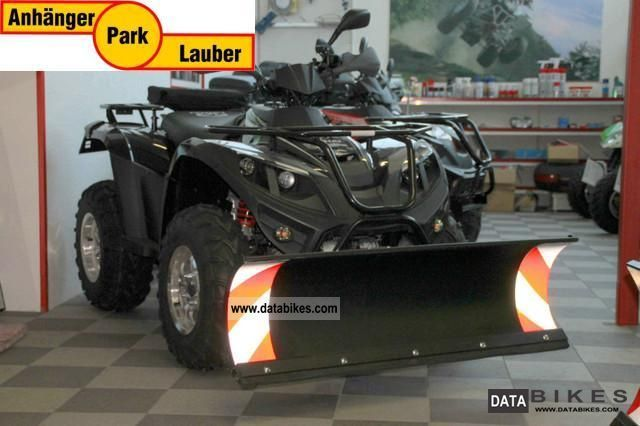 2012 Linhai  ATV black 420 4x4, 4x4 snow plow Motorcycle Quad photo