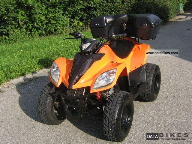 2008 Daelim  ET-250 Power Sports with Case + sport exhaust, etc. Motorcycle Quad photo