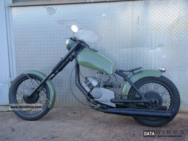 Puch  M50 Moped Chopper 1973 Vintage, Classic and Old Bikes photo