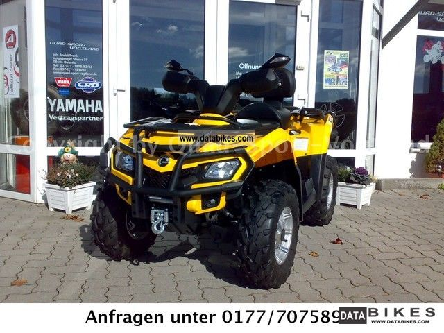2012 Bombardier  CanAm Outlander 400 Max XT with LOF-approval! Motorcycle Quad photo