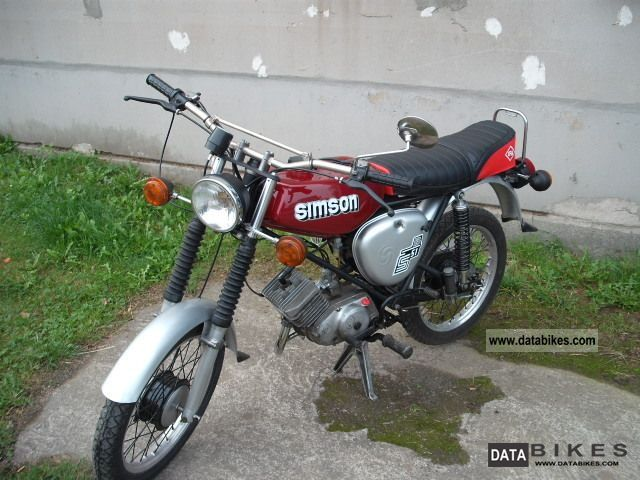 1992 Simson  S51 Motorcycle Motor-assisted Bicycle/Small Moped photo