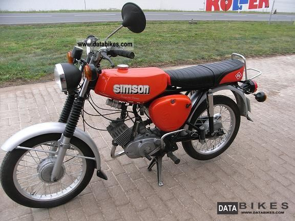 Simson  S 50 B 1978 Vintage, Classic and Old Bikes photo