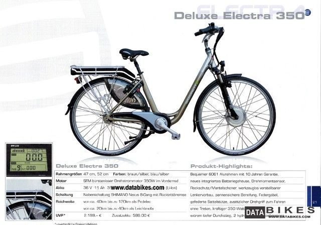 Sachs  Ebike Deluxe Saxonette Electra 350 2012 Electric Motorcycles photo