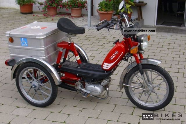 1989 Sachs  Wheelchairs, special car of Wulfhorst Motorcycle Motor-assisted Bicycle/Small Moped photo