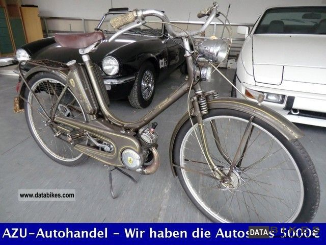 1954 Zundapp  Zündapp Combinette with Combimot 50 Motorcycle Motor-assisted Bicycle/Small Moped photo