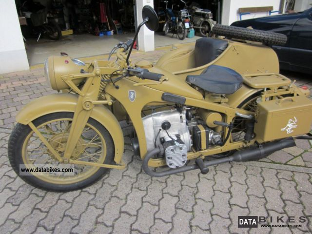 1937 Zundapp  Zündapp K500 army team Motorcycle Combination/Sidecar photo